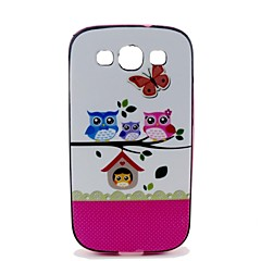 Varten Samsung Galaxy kotelo Kuvio Etui Takakuori Etui Pöllö PC Samsung S3