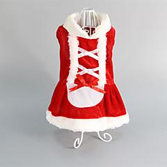 Gatos / Perros Vestidos Rojo Ropa para Perro Invierno Boda / Navidad