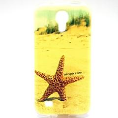 patrón de estrellas de mar TPU suave para mini i9190 s4