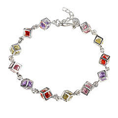 H220 925 sterling silver bracelet, 925 sterling silver fashion jewelry Colored Stone Bracelet /dapalrwa ebnamsua Christmas Gifts