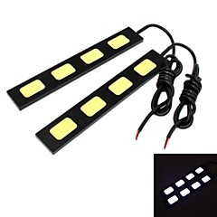GC® 2Pcs 15cm 15W 5x COB 1500LM 8000K Cool White Light LED for Car Daytime Running Light (DC 12V)