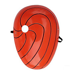 Mask Inspired by Naruto Madara Uchiha Anime Cosplay Accessories Mask Red PVC Male