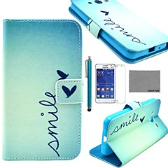 COCO FUN® Flower Pattern PU Leather Case with Screen Protector and Stylus for Samsung Galaxy Core 2 G355H