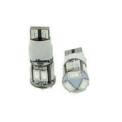 t10 led 2-mode rood 5w 11x5630smd 550lm voor auto remlicht (dc12-16v)