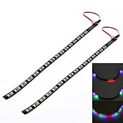 GC ® 2pcs 30cm 3w 32x3528smd 200lm RGB-LED für Auto ic scannen dekoratives Licht Lampe (DC 12V)