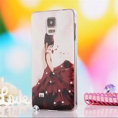 Varten Samsung Galaxy Note Paljetti / Kuvio Etui Takakuori Etui Seksikäs nainen PC Samsung Note 4