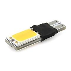 t10 2xcob luces intermitentes 1.5w 230LM dc 12v de 360 grados para el blanco cálido la luz de placa anchura coche conducido (2 piezas)