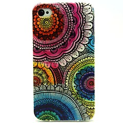 Sunflower Flower Pattern PU Leather Full Body Case with Card Slot and Stand for iPhone 4S