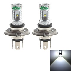 Zweihnder  H4 30W 2800lm 6000-6500K 6x3535 SMD LED White Light Bulb for Car Foglight (12-24V,2 Pieces)