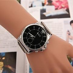 שעון קוורץ אופנת חגורת סגסוגת חוגה העגולה של נשים (צבעים שונים)