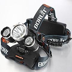 Pyöräilyvalot LED 4.0 Tila 5000 Lumenia Vedenkestävä / ladattava / Iskunkestävä Cree XM-L T6 18650Telttailu/Retkely/Luolailu /