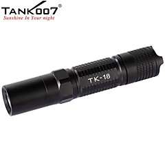 TANK007 TK18 5-Mode Cree XP-G R5 LED Outdoor Portable Flashlight (320LM, 2xCR123/ 2x16340/1x18650, Black)