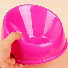tigela de plástico redonda para cães de estimação (tamanho pequeno)