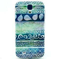 Blue Finger Pattern TPU Soft Case for S4 I9500