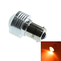 1056 (bau15s PY21W) 3W 1cob 635-700nm rødt lys LED pære til bil baklygte (DC12V / 1stk)