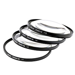 Close Up +1 / +2 / +4 / +10 Lens Filters Set - Black (82mm / 4 PCS)