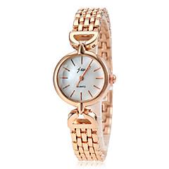 Damen Modeuhr Armbanduhr Quartz Legierung Band Süßigkeit Gold Golden