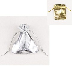 (10pc) 7*9CM Jewelry Packing Bag Gift Bag(Gold,Silver)