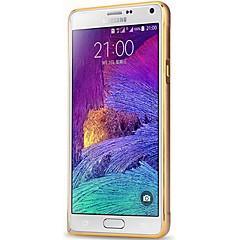 Voor Samsung Galaxy Note Schokbestendig hoesje Bumper hoesje Effen kleur Aluminium Samsung Note 4