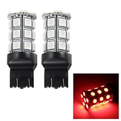 Merdia T20 3W 110LM 27x5050SMD LED Red Brake Light / Instrument Lamp/Daytime Running Light(2 PCS/12V)