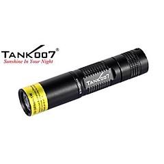 tank007® uv tk566 ammatti 1-tilassa 1x 365-1w led taskulamppu (1xAA, musta)