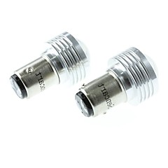 BAZ15D (1122 P21) 3W 3COB 220-260LM 6500-7500K White Light LED Bulb for Car Reversing Lamp (DC12V /2pcs)