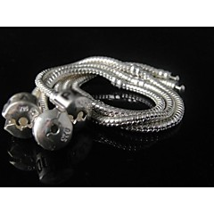 """Wholesale 5pc 925 Sterling Silver Plated Snake Chain for European Charms Bracelet 8.5"""""""