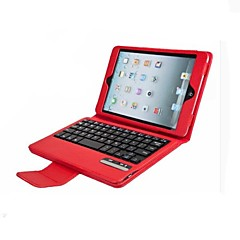 couleur unie en cuir amovible clavier dent bleue couvre avec support pour iPad mini-1/2/3