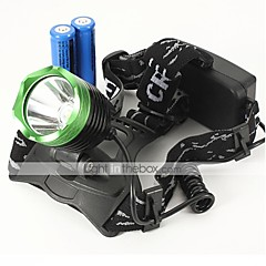 LT-068  3Mode  CREE XM-L T6 LED Headlamp  (2000LM.2X18650.Black)