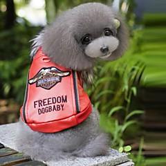 Perros Abrigos Rojo / Azul Ropa para Perro Invierno Letra y Número