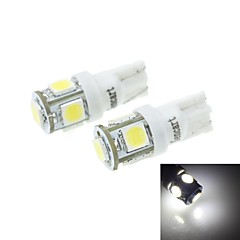 T10(149 168 W5W)2.5W 5X5054SMD 160-180LM 6000-6500K White Light for Car Lndicator (DC12-16V)