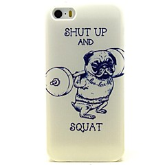 Weightlifting Dog Pattern PU Leather Full Body Case with Card Slot and Stand for iPhone 5/5S