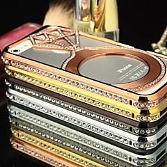 doopootoo ™ cristal bling de luxe de pare-chocs en métal cadre du dossier de couverture de cas pour l'iPhone 5 / 5s (couleurs assorties)