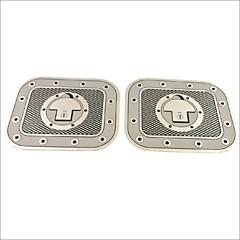 Auto Car Truck Decoration Adhesive Checkered Fuel Tank Cap Decal Sticker (2PCS)