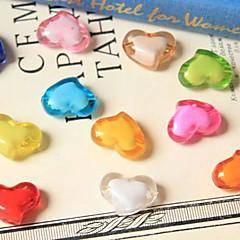 acryliques perles accessoires de photographie Qihang en forme de coeur (1 pcs, couleurs assorties)