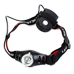 Headlamps 1 Mode 350 Lumens Adjustable Focus / Waterproof AAA Camping/Hiking/Caving / Cycling / Hunting / Fishing / Climbing - Others ,