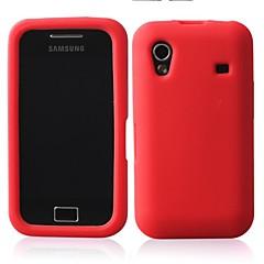 einfarbig Silikonkasten weiche Tasche für Samsung S5830 (Farbe sortiert)