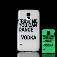lause kuvio loistaa pimeässä kova suojakotelo Samsung Galaxy s5 i9600