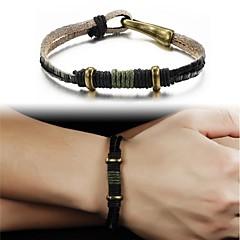 Leather Woven Men's Bracelet