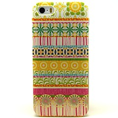 Yellow Circle Tribal Lines Pattern PU Leather Full Body Case with Card Slot and Stand for iPhone 5/5S