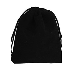 Rectangle-Shaped Velvet Gift Bags Black (1Pc)