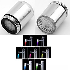rc-f902 stilig vannstråle fargerike lysende LED lys tappekran lys (plast, krom)