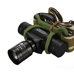 Headlamps LED 3 Mode 350/150/100 Lumens Adjustable Focus / Waterproof / Rechargeable / Impact Resistant Cree XR-E Q5 14500 / AA