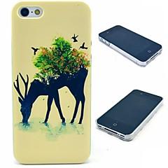 caso duro de renos y aves patrón para el iphone 4 / 4s
