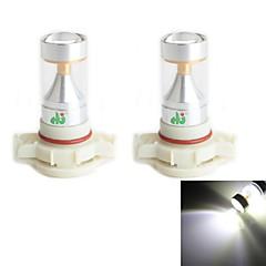 hj h16 30w 2600lm 6000-6500k 6x2835 SMD leds branco bulbo de luz para a luz do carro de nevoeiro (12-24V, 2 peça)