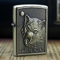 l'or de la terre l'huile loup valeureux relief motif métallique légère