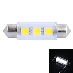 41mm 0.5W 50LM 6000K 3x5050 SMD White LED for Car Reading / License Plate / Door Lamp (DC12V)