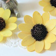 Qihang fleurs jaune soleil placage fleurs séchées accessoires de photographie (1 pcs)