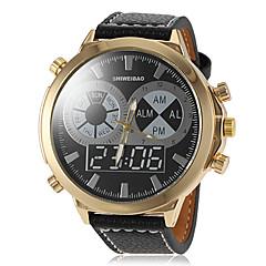 Masculino Relógio Militar Quartzo PU Banda Preta Marrom Branco Preto Marron
