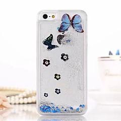 transparent glitter fashion areia movediça cobertura bling do teste padrão de borboleta para o iPhone 5 / 5s (cores sortidas)